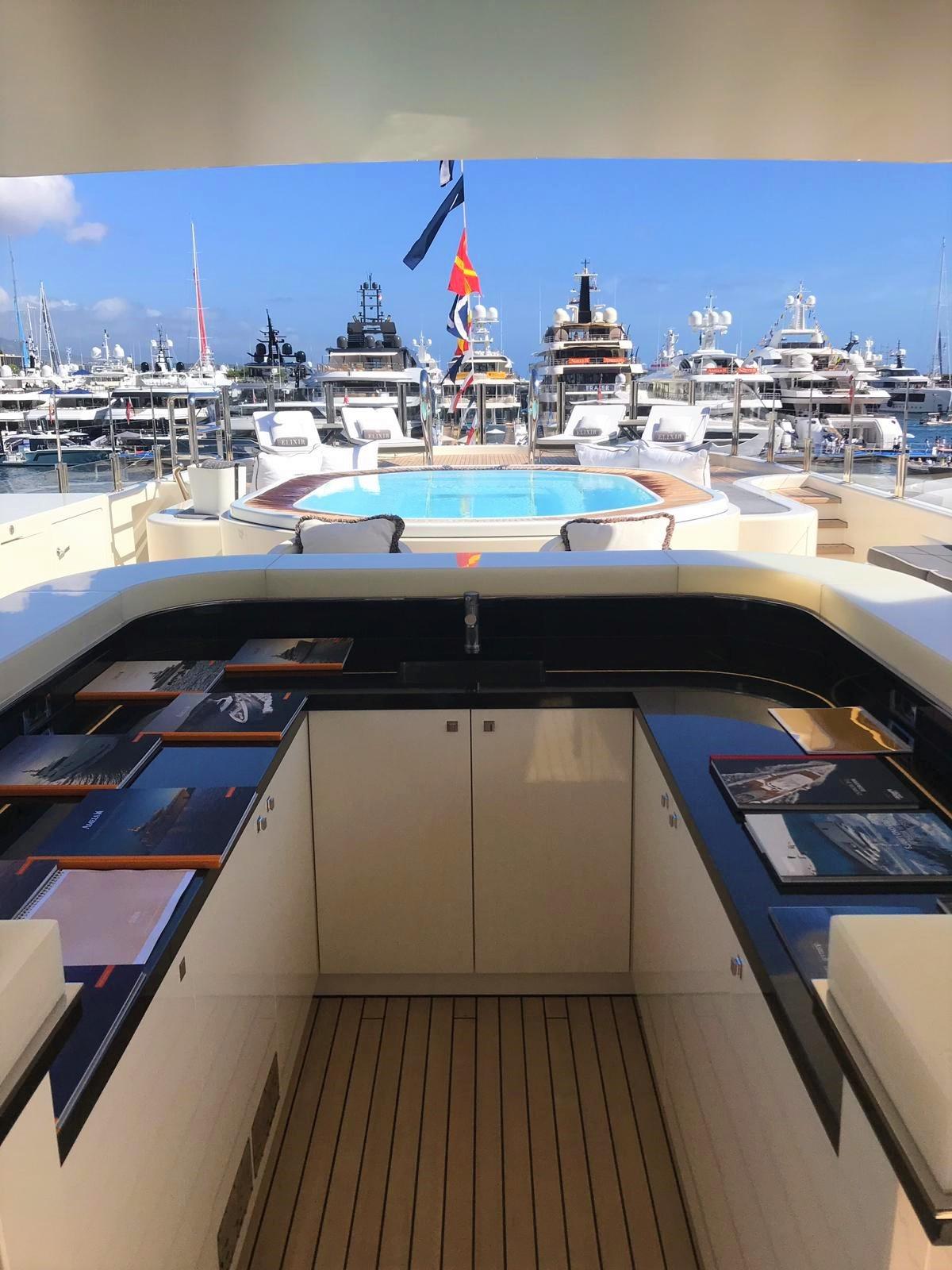 Deck Jacuzzi at Monaco Yacht Show