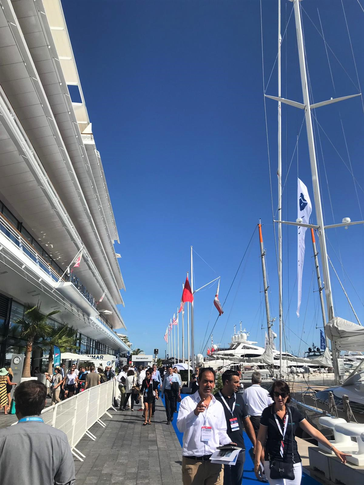 Street at Monaco Yacht Show