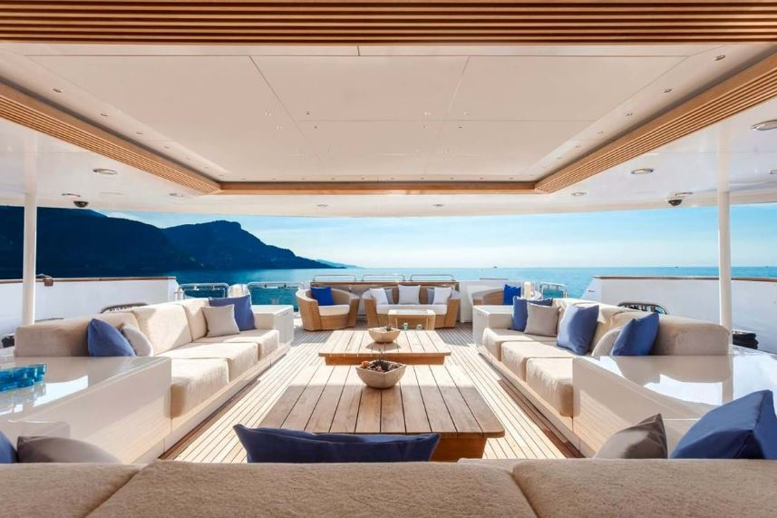 Lounge deck of a Superyacht