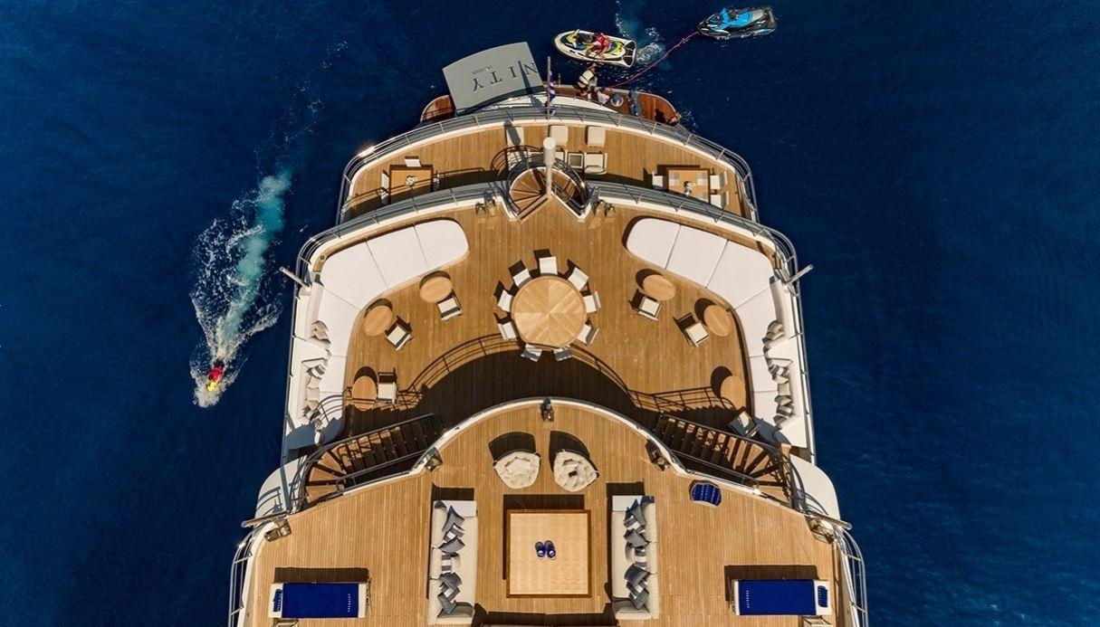 Rear deck of a Superyacht