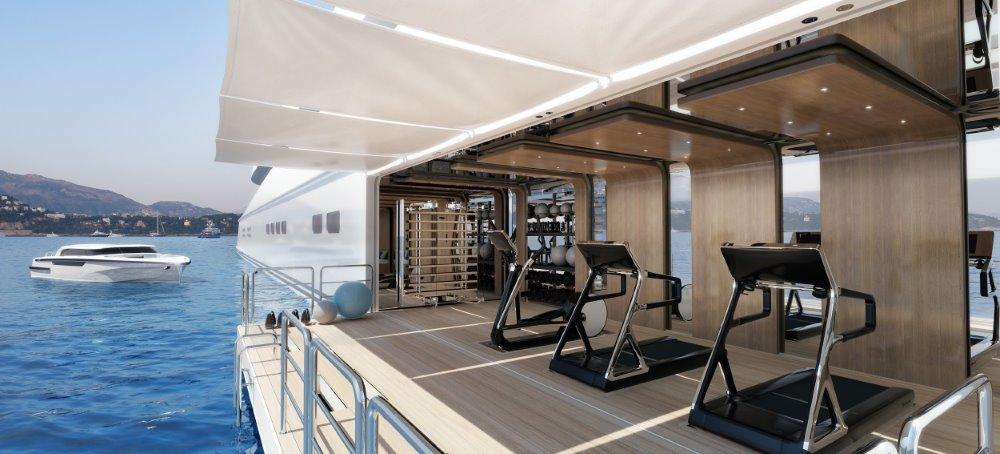 Waterline Gym on a Superyacht