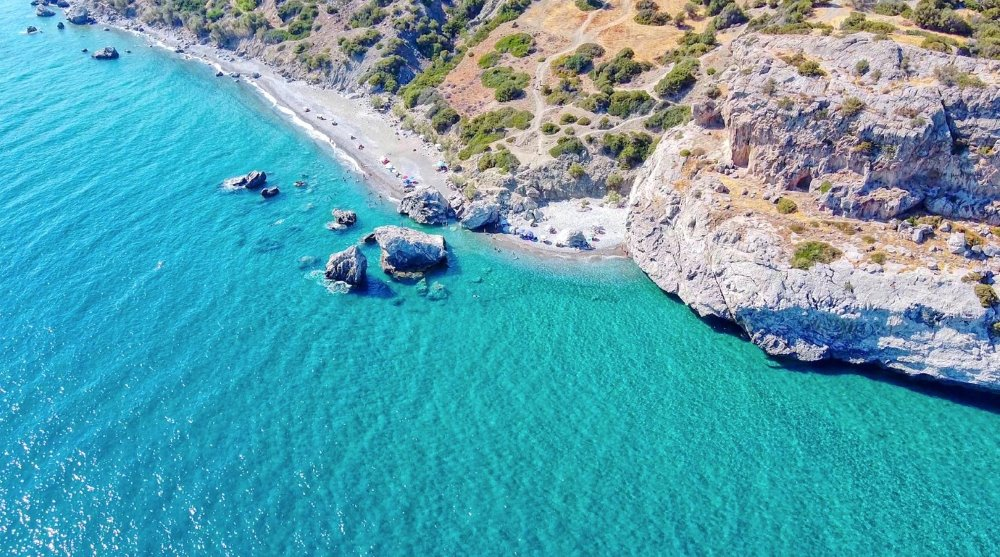 Idyllic coastline on Greek Island