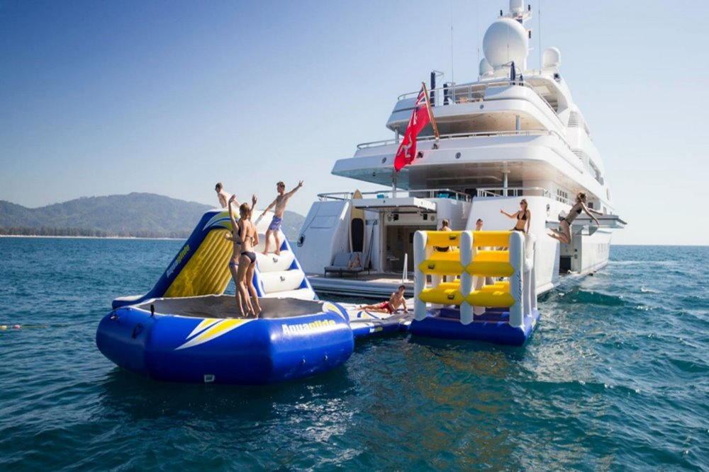Socially-distanced holiday on superyacht with water toys