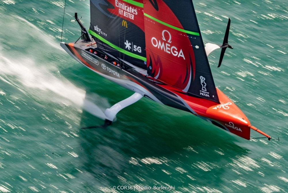 Hydrofoiling Sports Yacht