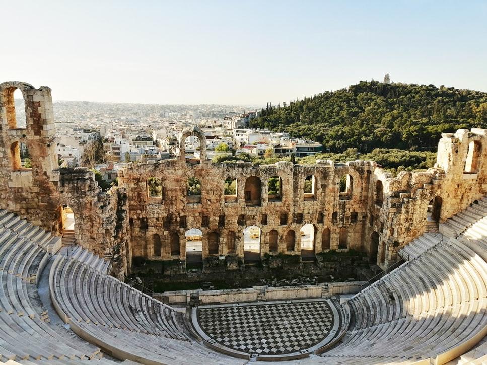 Athens Amphitheater Ampitheatre City Mountain TJB Superyacht
