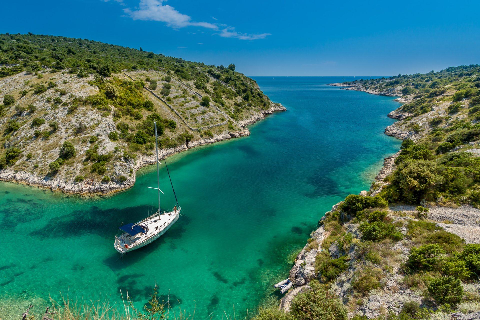 Trogir River Ocean Mountain Boat TJB Superyachts