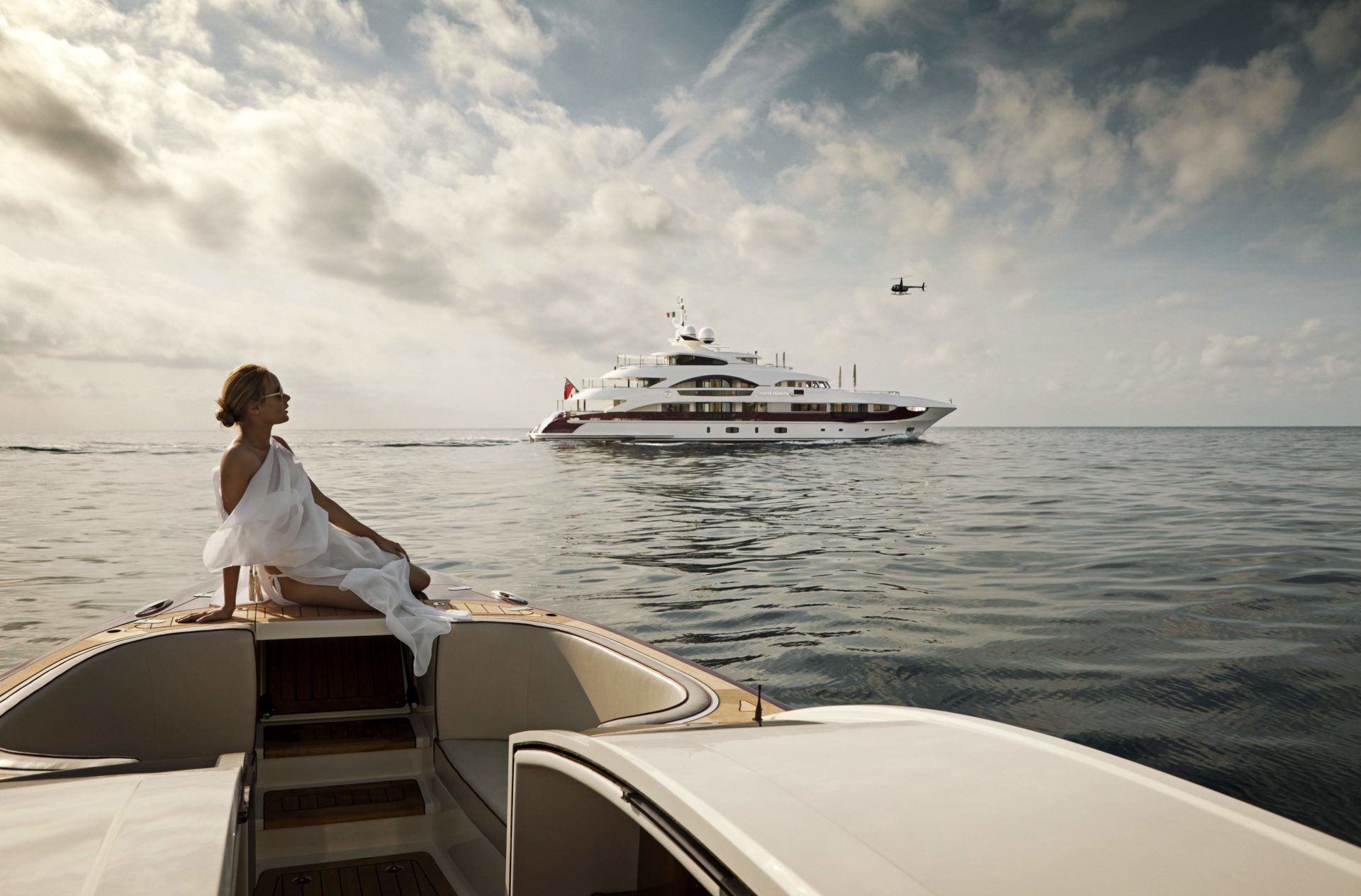 woman on a yacht luxury travel